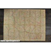 Carte Taride routière n°11 - 1934 - secteur Bourgogne Morvan Nivernais