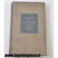 Livre Allemand de 1937 - bibliothek der unterhaltung und des wissens