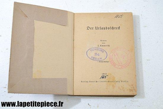 Livre Allemand 1943 - Censure 24 SEDAN - délégation en France Croix Rouge de Genève