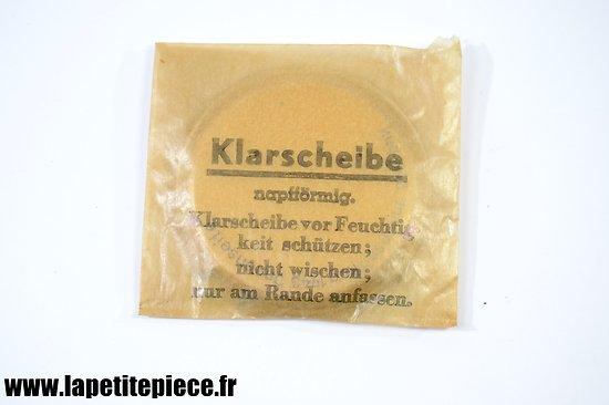 Optiques (verres) de rechange 1943 pour masque à gaz Allemand Deuxième Guerre Mondiale. Klarscheiben