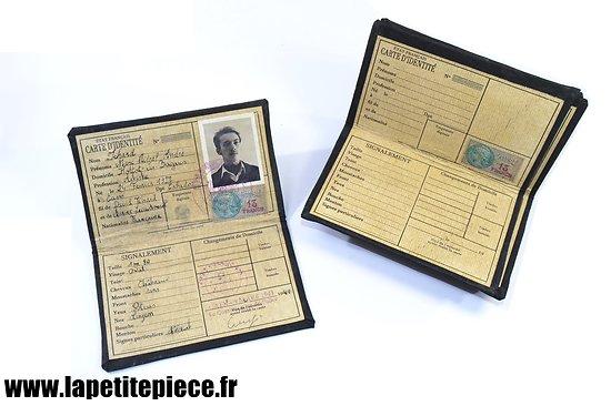 Repro carte d'identité Française Régime de Vichy, reconstitution Résistance FFI