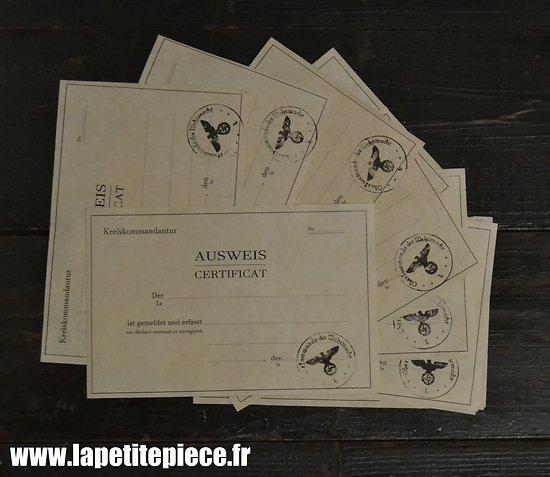Repro Ausweis - Occupation Allemande, reconstitution, civil, résistance FFI