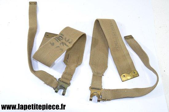 Paire de bretelles pour havresac / musette Anglaise WW2
