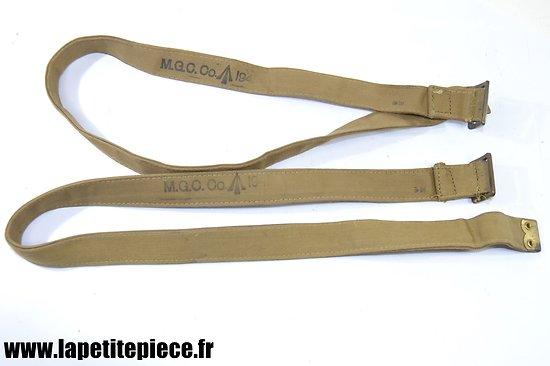 Paire de sangles Anglaise 1941 fabrication ersatz en toile multicouche M.G.C. Co