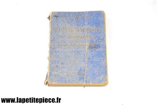 Dictionnaire Anglais-Français par le Commandant Em. Ronin, 1944