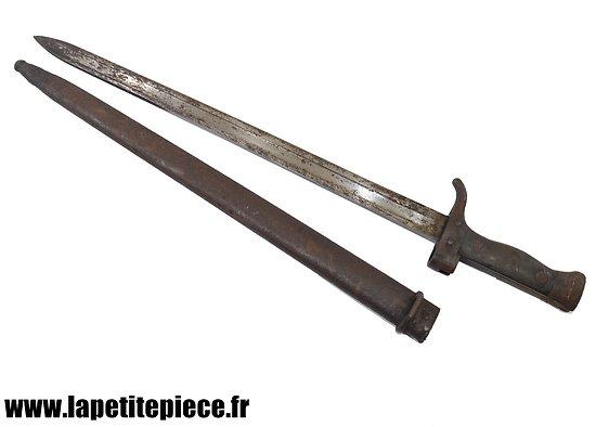 Baionnette Berthier Mousqueton 1892 second type quillon court. Etat moyen