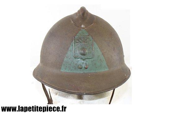 Casque Français modèle 1926 défense passive , chef d'îlot