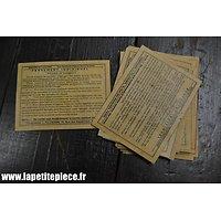 Repro étiquette pansement Français Première Guerre Mondiale