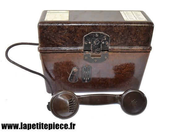 Téléphone de campagne Allemand - 1944 Eumig Feldfernsprecher 33 - HELIOWATT A.G. 1944