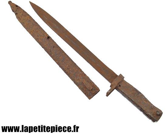 Baionnette Allemande ersatz Première Guerre Mondiale - pièce de terrain