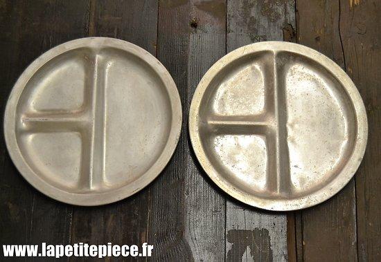 Assiettes compartimentées Aluminium - Idéal cantonnement / fortification