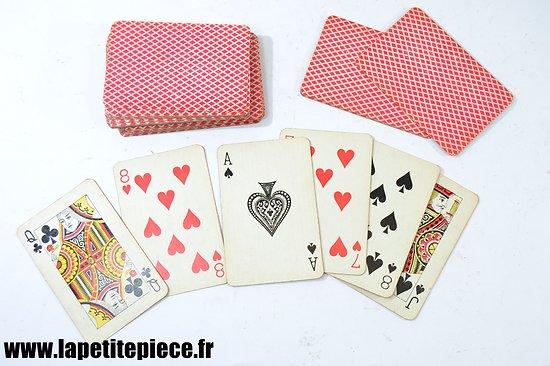 Jeu de 52 cartes années 1930 - 1950