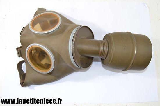 Masque à gaz Défense Passive Française WW2 - Grande taille.
