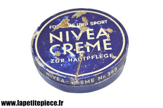 Pot Nivea creme, allemand WW2, pièce de terrain