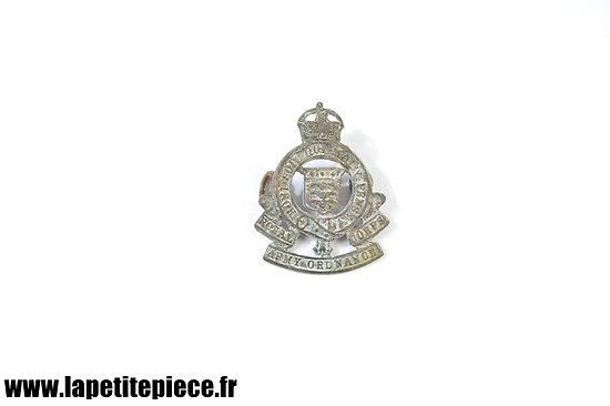 Insigne Anglais WW1 Royal Army Ordnance Corps - pièce de terrain