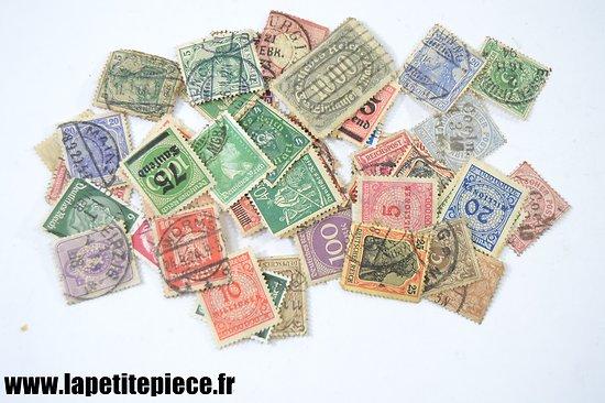 Lot timbres poste Allemand début - milieu 20e Siècle.