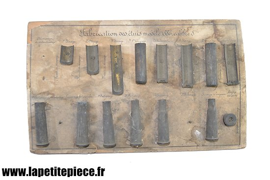 Tableau d'instruction sur la fabrication de la cartouche de 8mm Lebel 1886