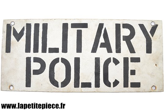 Reproduction d'une plaque de véhicule, Military Police