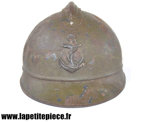 Casque Adrian modèle 1915 - troupes coloniales France WW2.