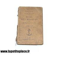 Marine Nationale 1926 - Manuel des recrues des équipages de la flotte