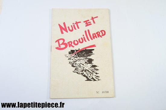 """Brochure - Nuit et brouillard. Association  des déport""""s, internés et familles de disparus ADIF des Ardennes"""