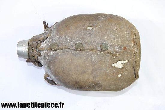 Bidon Belge à fond plat WW2 - Infanterie veldfles platte bodem