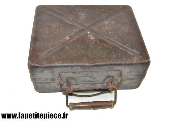 Caisse Allemande pour 10 obus de mortier de 5 cm L.Gr.W.36 (Leichte Granate Werfer  36)