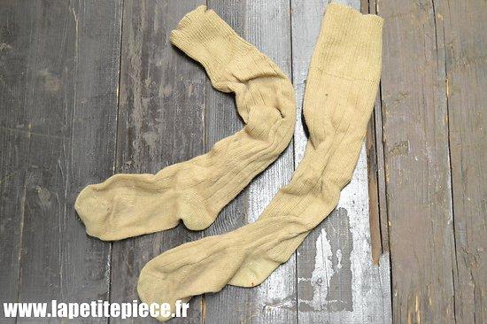 Paire de chaussettes hautes en laine