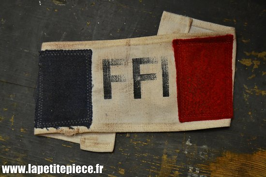 Repro brassard FFI résistance, patiné.