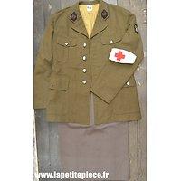 Repro vareuse Femme France WW2 - SSA Sections Sanitaires Automobiles, avec jupe et brassard