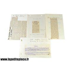 Documents tract Anglais lancé au dessus de Vanves le 2 octobre 1940