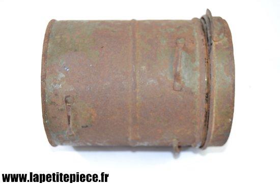 Boitier vide Lederschutzmaske 1917. Pour masque à gaz Allemand modèle 17