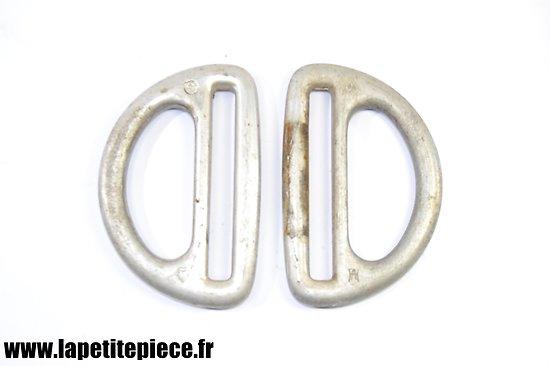 Paire de dés de suspension / sangles. Aluminium. Allemand WW2