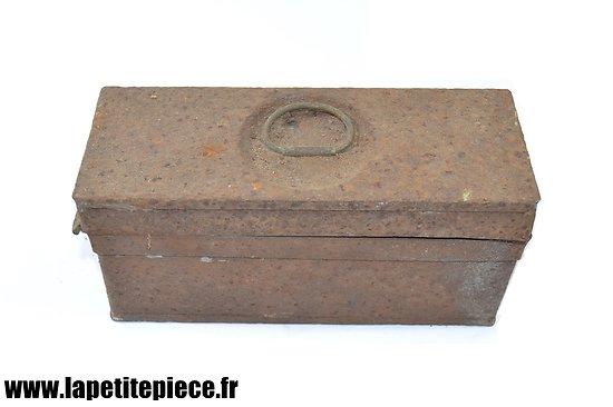 Caisse à munitions Allemande Première Guerre Mondiale. 9mm Luger