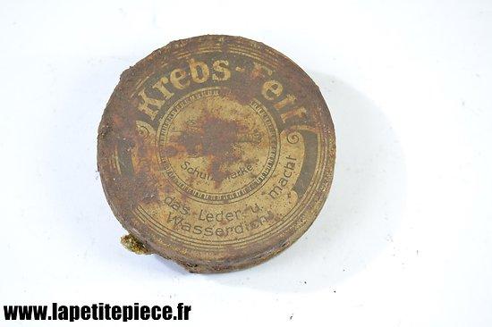 Boite de cirage Allemande Première Guerre Mondiale, Krebs-Fett