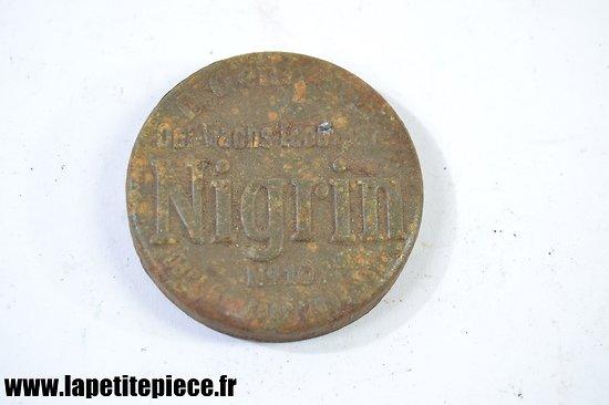 Couvercle boite NIGRIN N°10, Allemande Première Guerre Mondiale