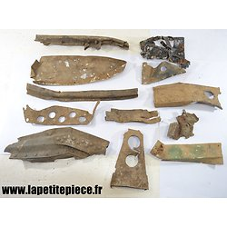Morceaux d'épave d'avion Deuxième Guerre Mondiale