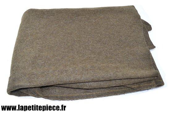 Couverture de laine kaki 135cm x 220cm Militaire