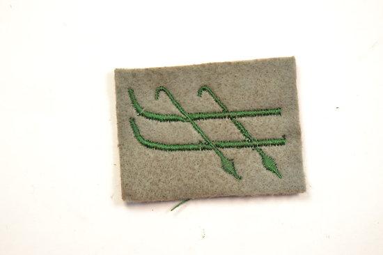 Repro insigne tissu skieur chasseur attribut de manche Français Première Guerre Mondiale. France WW1