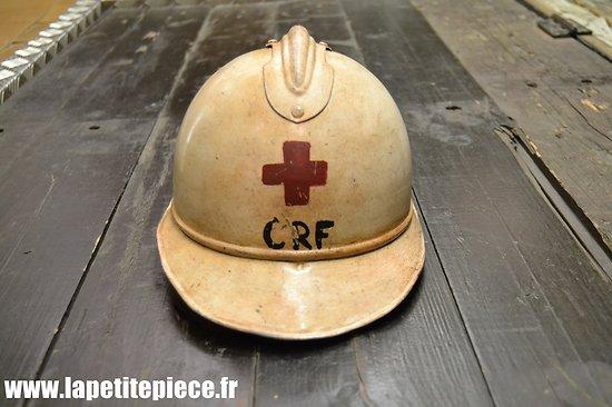 Casque Adrian 1915 'civil' reconditionné Croix Rouge (CRF).