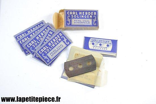 Boite de 10 lames de rasoir années 1930 - 1950. Carl Herder Solingen