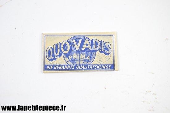 Lame de rasoir Allemande années 1930 - Quo Vadis Prima