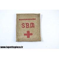 Repro patch brodé SBM Secours aux blessés militaires, pour cape et pèlerine