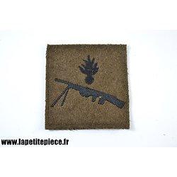 Repro patch de bras attribut Fusilier mitrailleur sur drap kaki - modèle WW1