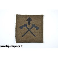 Repro patch de bras attribut Sapeur Pionnier sur drap kaki