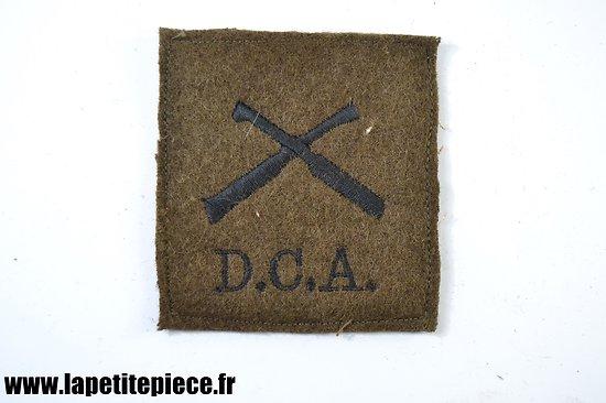 Repro patch de bras attribut DCA Défense Contre Avions sur drap kaki