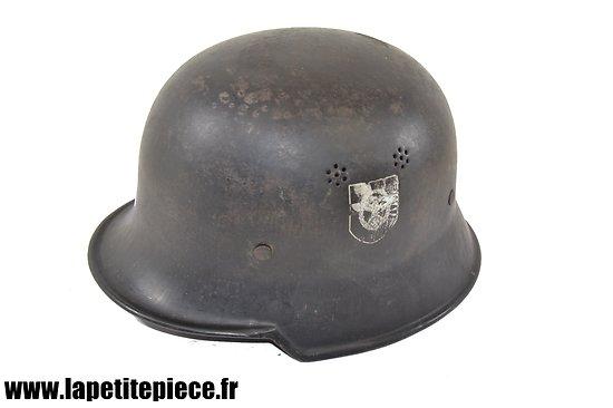 Casque Allemand M34 Feurschutzpolizei doubles insignes THALE