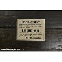 Repro affiche de réquisition militaire Allemande WW2