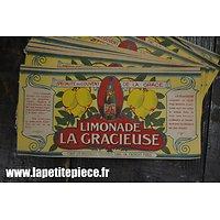 Etiquette de limonade Française années 1930 - reconstitution