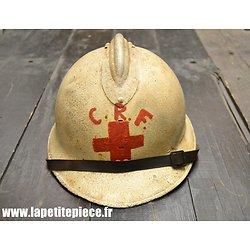 Casque Français modèle 1926 reconditionné Croix de Rouge CRF taille D